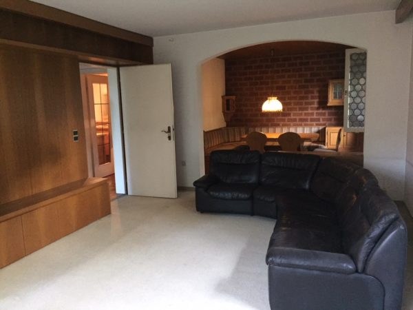 Wohnzimmer vor Home Staging