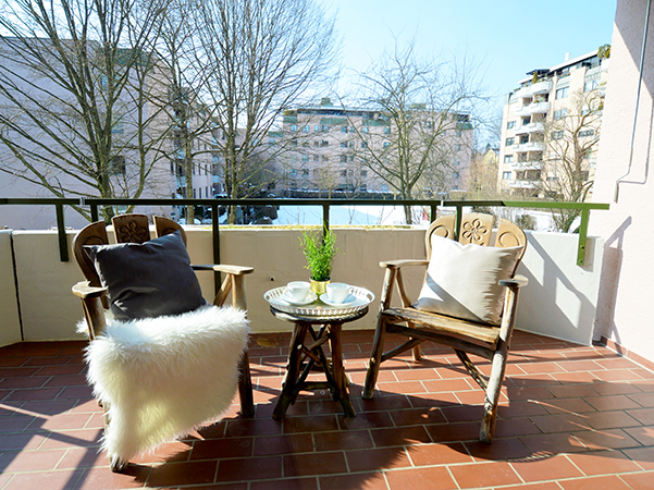 Terrasse nach Home Staging