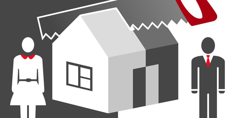 Grafik Immobilie bei Scheidung